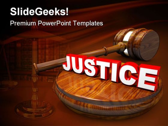 Justice Law PowerPoint Templates And PowerPoint Backgrounds 0411  Presentation Themes and Graphics Slide01