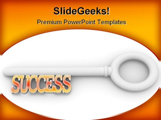 Key To Success Business PowerPoint Templates And PowerPoint Backgrounds 0311  Presentation Themes and Graphics Slide01