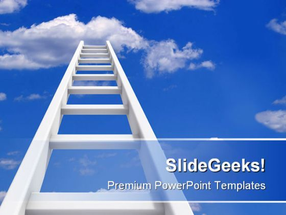 Ladder To Sky Future PowerPoint Background And Template 1210  Presentation Themes and Graphics Slide01