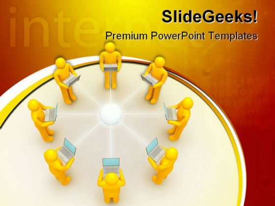 Laptop Network Internet PowerPoint Templates And PowerPoint Backgrounds 0511  Presentation Themes and Graphics Slide01