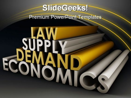 Law Supply Demand Economics Business PowerPoint Background And Template 1210  Presentation Themes and Graphics Slide01