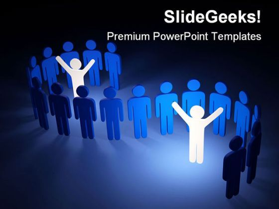 Leaders In Group Leadership PowerPoint Background And Template 1210  Presentation Themes and Graphics Slide01
