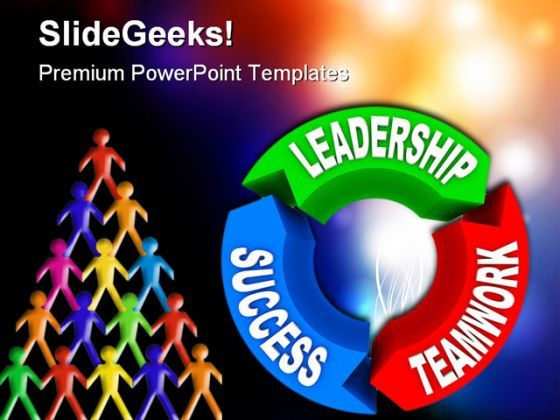 Leadership Success Teamwork Business PowerPoint Background And Template 1210  Presentation Themes and Graphics Slide01