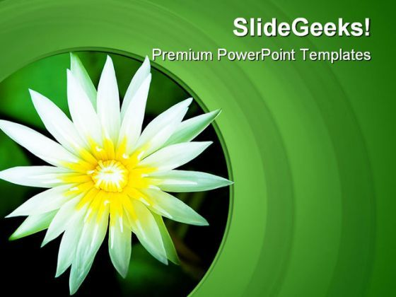 Lotus Flower Nature Powerpoint Templates And Powerpoint Backgrounds