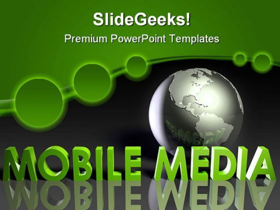 Mobile Media Communication PowerPoint Templates And PowerPoint Backgrounds 0311  Presentation Themes and Graphics Slide01