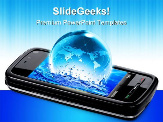 Mobile Phone Global Communication PowerPoint Templates And PowerPoint Backgrounds 0711  Presentation Themes and Graphics Slide01