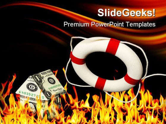 Money House On Fire Metaphor PowerPoint Templates And PowerPoint Backgrounds 0411  Presentation Themes and Graphics Slide01