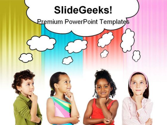 Multiethnic Group Children PowerPoint Backgrounds And Templates 1210  Presentation Themes and Graphics Slide01
