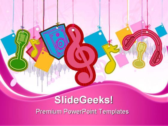 Music Symbol PowerPoint Templates And PowerPoint Backgrounds 0411  Presentation Themes and Graphics Slide01