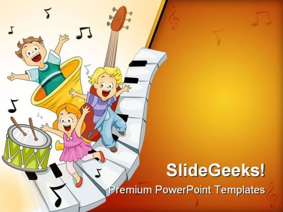 Musical Notes Entertainment PowerPoint Templates And PowerPoint Backgrounds 0411  Presentation Themes and Graphics Slide01