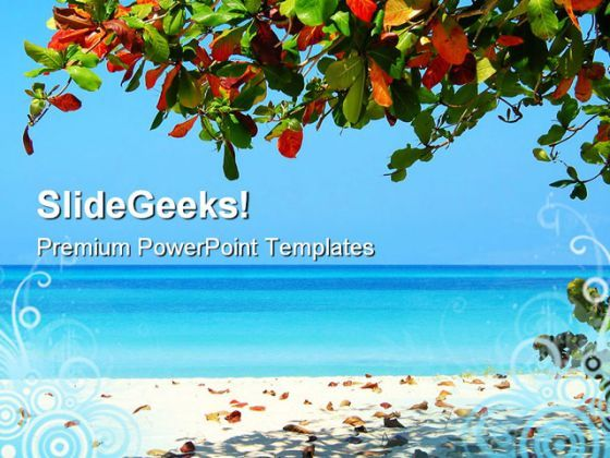 Negrils Beach PowerPoint Templates And PowerPoint Backgrounds 0511  Presentation Themes and Graphics Slide01