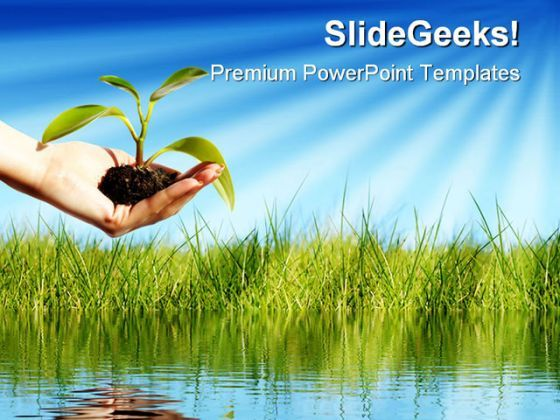 New Life Nature PowerPoint Background And Template 1210  Presentation Themes and Graphics Slide01
