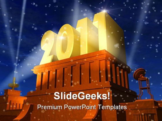 New Year Lights Festival PowerPoint Background And Template 1210  Presentation Themes and Graphics Slide01