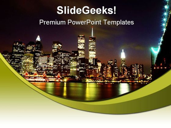 New York Skyline Beauty PowerPoint Background And Template 1210  Presentation Themes and Graphics Slide01