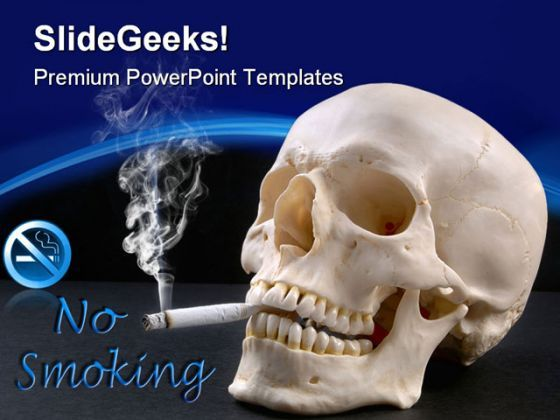 No Smoking Health PowerPoint Templates And PowerPoint Backgrounds 0311  Presentation Themes and Graphics Slide01