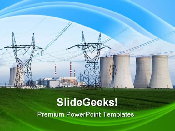 Nuclear Power Station Technology PowerPoint Templates And PowerPoint Backgrounds 0311  Presentation Themes and Graphics Slide01