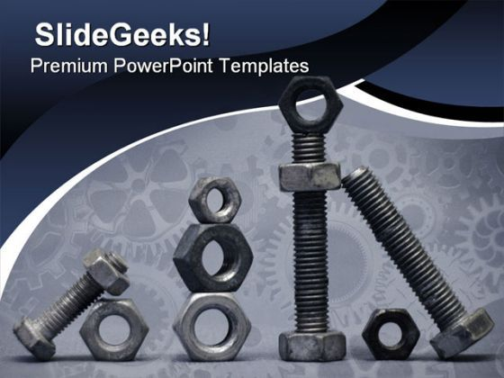 Nuts And Bolts Industrial PowerPoint Templates And PowerPoint Backgrounds 0711  Presentation Themes and Graphics Slide01
