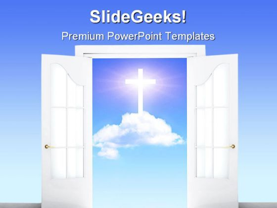 Open Door Religion PowerPoint Templates And PowerPoint Backgrounds 0511  Presentation Themes and Graphics Slide01