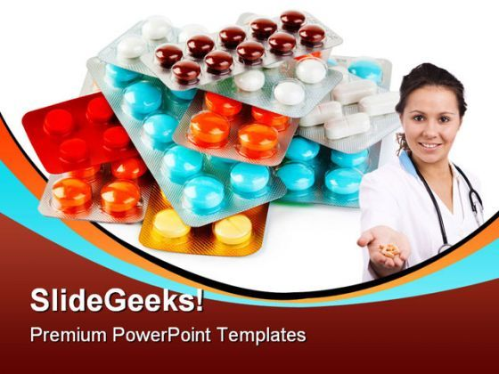 Packs Of Pills Medical PowerPoint Background And Template 1210  Presentation Themes and Graphics Slide01