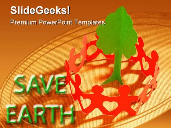 paper chain to save trees global powerpoint backgrounds