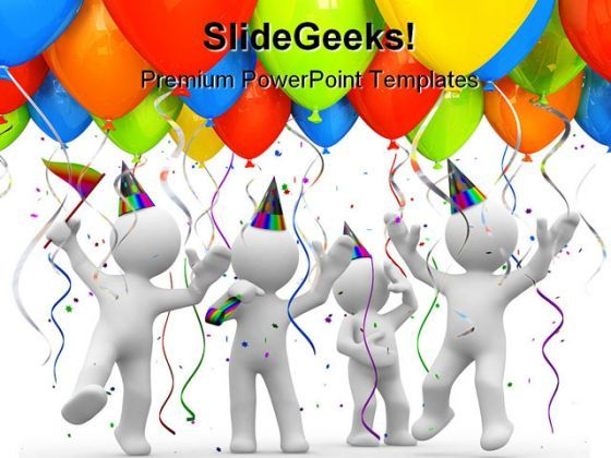 Party Balloons Holidays PowerPoint Backgrounds And Templates 1210  Presentation Themes and Graphics Slide01