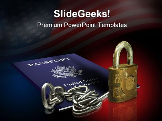 Passport Security Americana PowerPoint Backgrounds And Templates 1210  Presentation Themes and Graphics Slide01