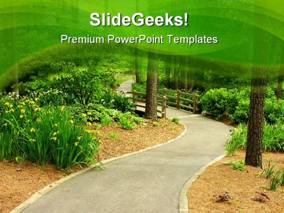 Path Nature PowerPoint Templates And PowerPoint Backgrounds 0711  Presentation Themes and Graphics Slide01