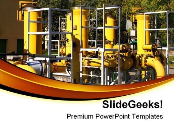 Pipeline Industrial PowerPoint Templates And PowerPoint Backgrounds 0211  Presentation Themes and Graphics Slide01