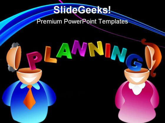 Planning Brain Business PowerPoint Background And Template 1210  Presentation Themes and Graphics Slide01
