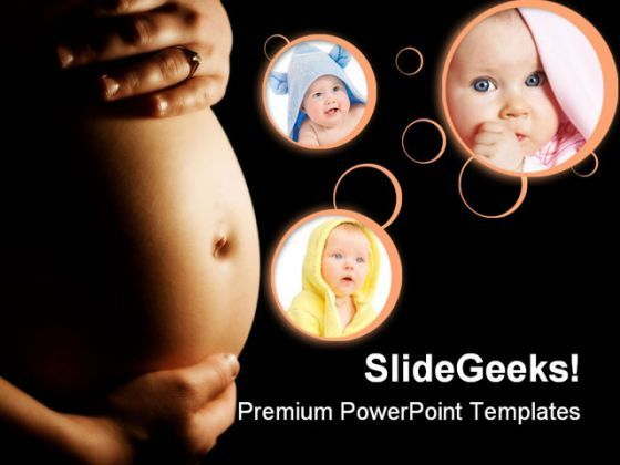 Pregnancy Concept Family PowerPoint Backgrounds And Templates 0111  Presentation Themes and Graphics Slide01