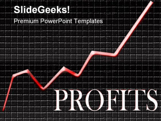 Profits Business PowerPoint Backgrounds And Templates 1210  Presentation Themes and Graphics Slide01