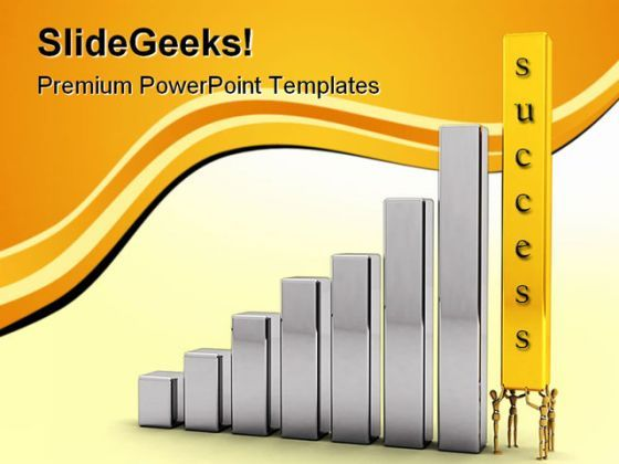 Pushing For Success Business PowerPoint Templates And PowerPoint Backgrounds 0311  Presentation Themes and Graphics Slide01