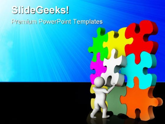 Put Final Puzzle Business PowerPoint Templates And PowerPoint Backgrounds 0411  Presentation Themes and Graphics Slide01
