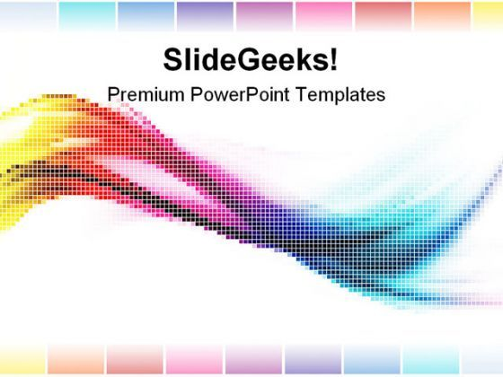 Rainbow Mosaic Abstract PowerPoint Templates And PowerPoint Backgrounds 0411  Presentation Themes and Graphics Slide01