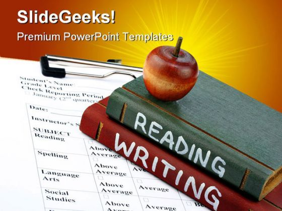 Reading Writing Education PowerPoint Backgrounds And Templates 1210  Presentation Themes and Graphics Slide01