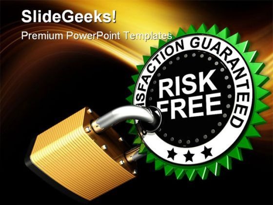 Risk Free Security PowerPoint Backgrounds And Templates 1210  Presentation Themes and Graphics Slide01
