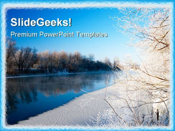 River And Hoarfrost Nature PowerPoint Templates And PowerPoint Backgrounds 0711  Presentation Themes and Graphics Slide01