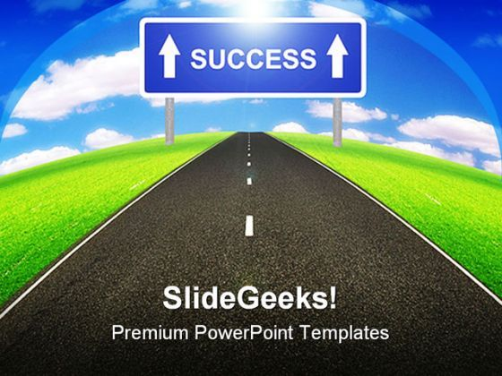 Road To Success Business PowerPoint Templates And PowerPoint Backgrounds 0411  Presentation Themes and Graphics Slide01