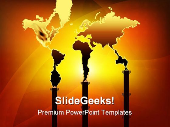 Smoke World Pollution Industrial PowerPoint Templates And PowerPoint Backgrounds 0311  Presentation Themes and Graphics Slide01
