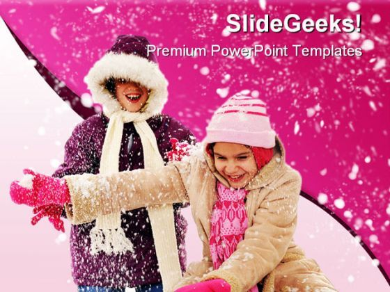 Snowy Winter Holidays PowerPoint Background And Template 1210  Presentation Themes and Graphics Slide01