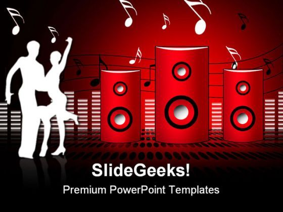 Soundburst Speaker Music PowerPoint Templates And PowerPoint Backgrounds 0811  Presentation Themes and Graphics Slide01