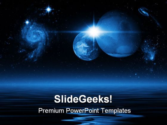 Space Earth PowerPoint Background And Template 1210  Presentation Themes and Graphics Slide01