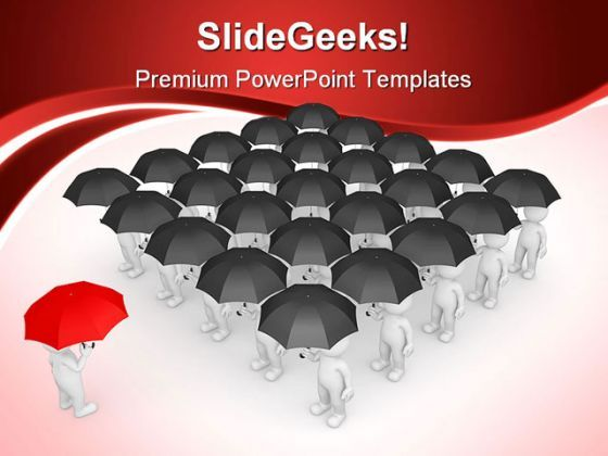 Stand Out From Crowd Business PowerPoint Backgrounds And Templates 1210  Presentation Themes and Graphics Slide01
