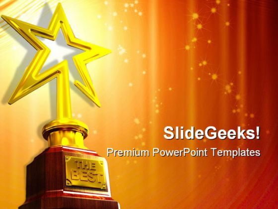 Star Award Entertainment PowerPoint Templates And PowerPoint Backgrounds 0211  Presentation Themes and Graphics Slide01