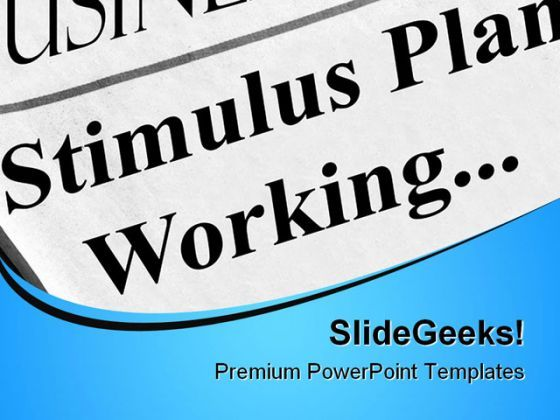 Stimulus Plan Working Business PowerPoint Background And Template 1210  Presentation Themes and Graphics Slide01