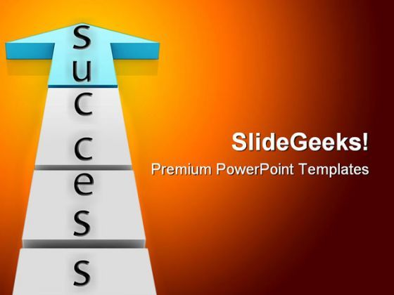 Success Arrow Business PowerPoint Templates And PowerPoint Backgrounds 0111  Presentation Themes and Graphics Slide01