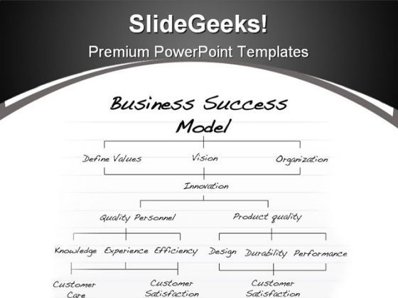 Success Model Business PowerPoint Background And Template 1210  Presentation Themes and Graphics Slide01
