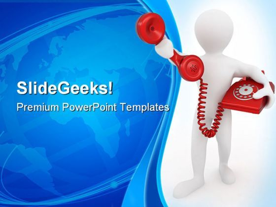 Telephone Receiver Communication PowerPoint Templates And PowerPoint Backgrounds 0311  Presentation Themes and Graphics Slide01