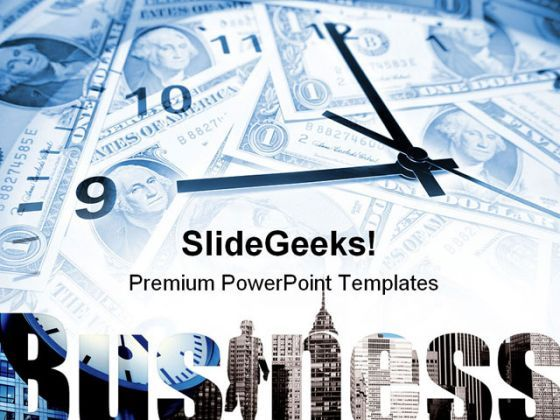 Time And Money Business PowerPoint Backgrounds And Templates 1210  Presentation Themes and Graphics Slide01