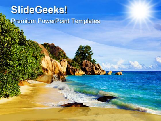 Tropical Beach Nature PowerPoint Background And Template 1210  Presentation Themes and Graphics Slide01